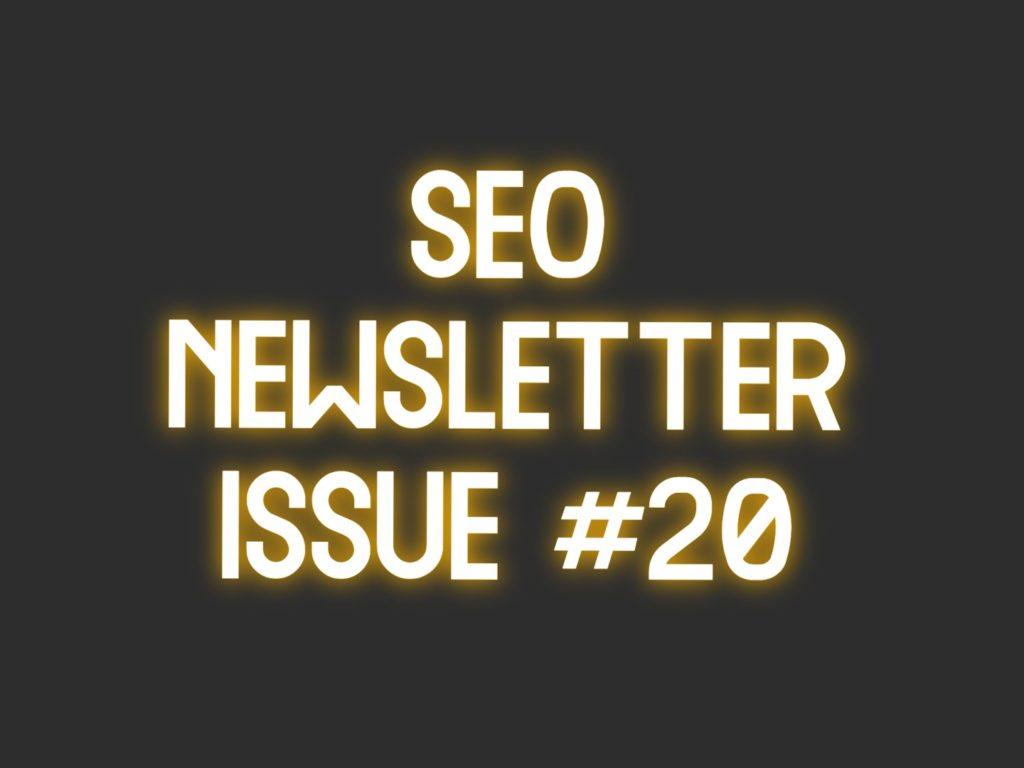 seo newsletter 20